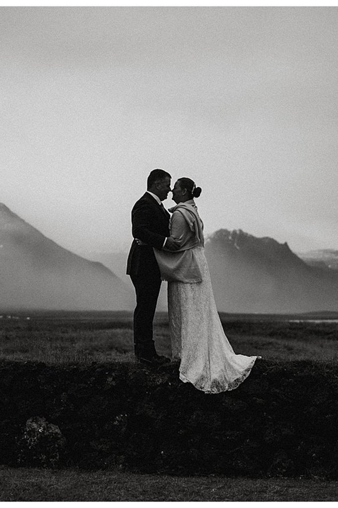 Intimate, Adventurous Elope in Arnarstapi, Iceland