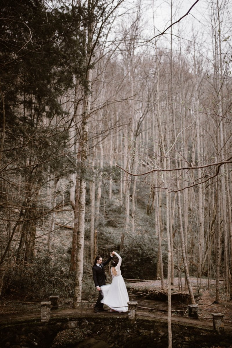 great smoky mountains tennessee adventure elopement