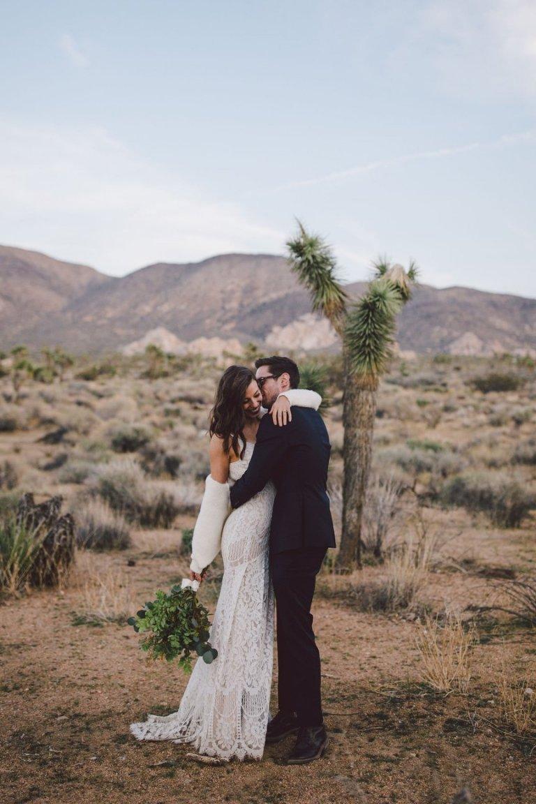 cap rock joshua tree california desert elopement wedding