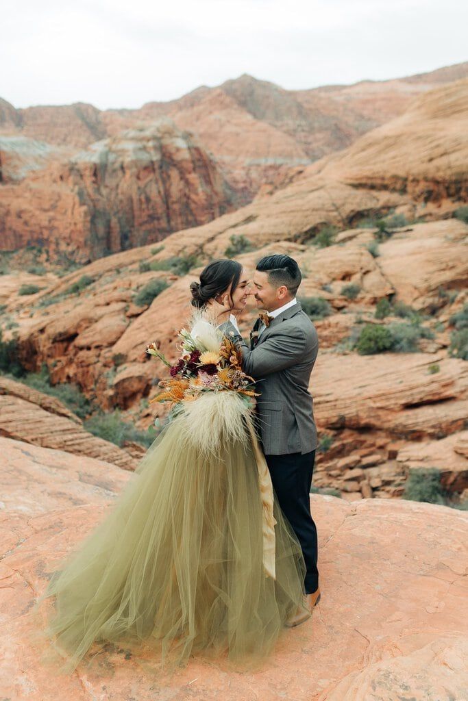 Desert Elopement Inspiration at Snow Canyon State Park, Utah