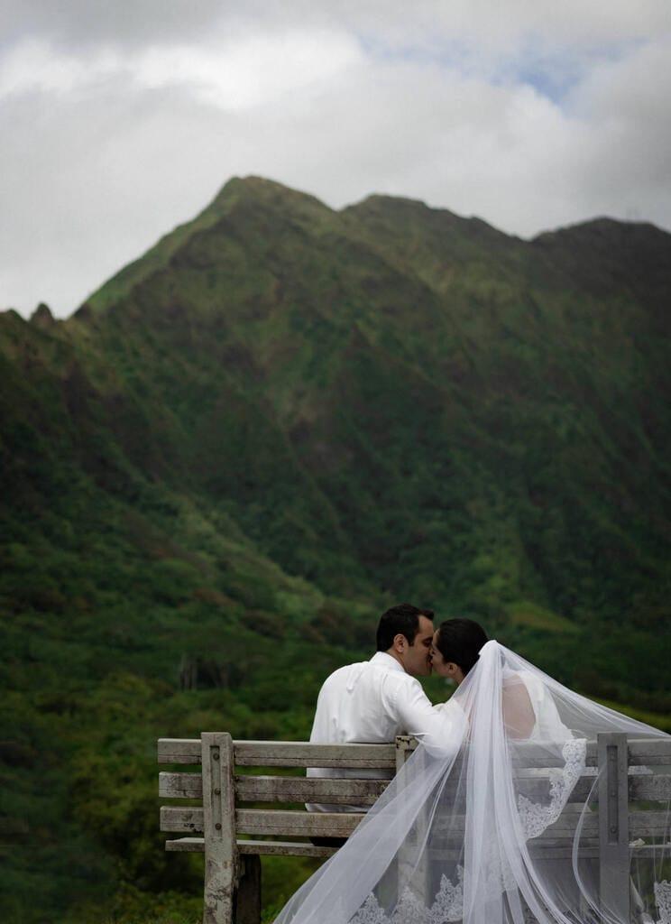 mountain Hawaii elopement.