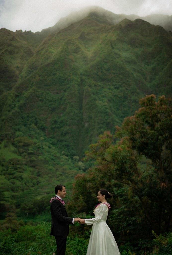 mountain elopement in Hawaii