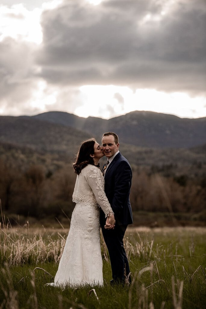 Intimate Sunset Elopement at Keene Valley in the Adirondack Mountains, New York
