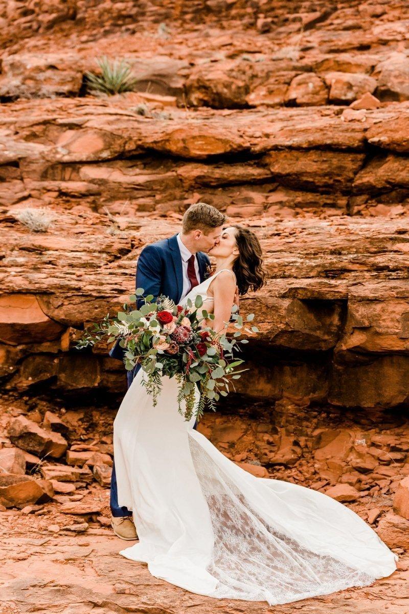 vow renewal cathedral rock sedona arizona desert elopement