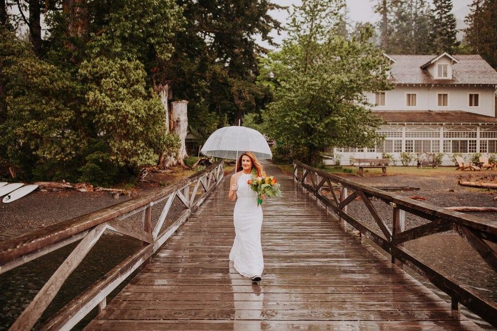 olympic peninsula lake crescent marymere falls washington elopement pnw wedding