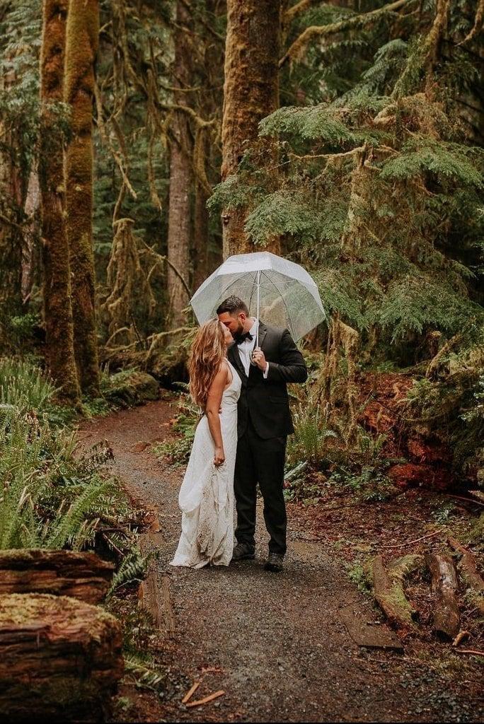 Rainy Adventure Elopement at Olympic National Park, Washington
