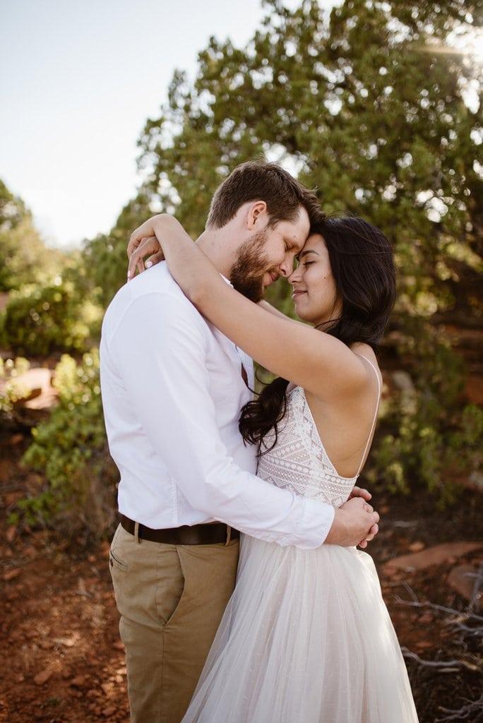 devils bridge doe mountain sedona arizona adventure wedding
