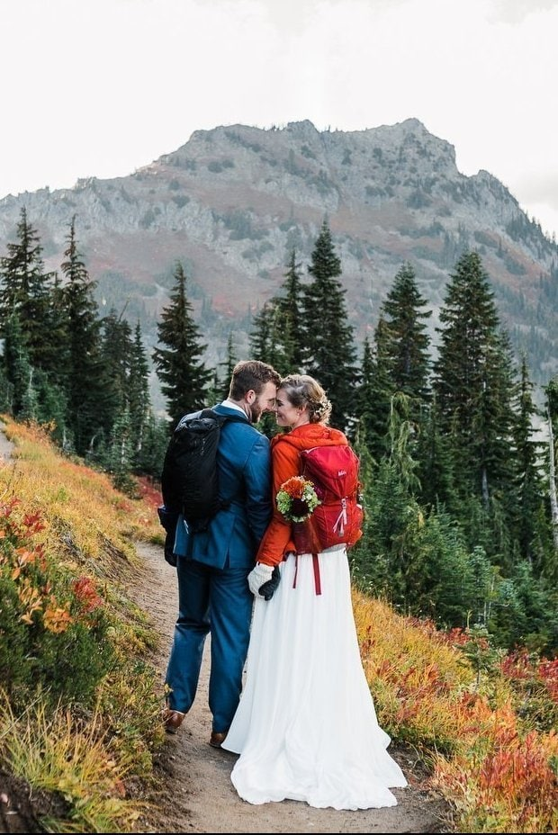 Washington Adventure Elopement in the Cascade Mountains