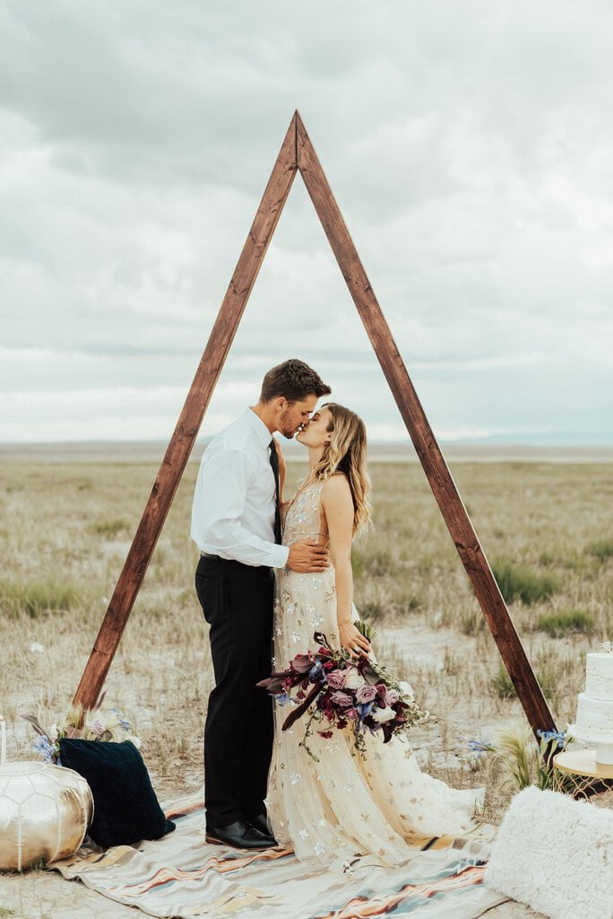 Celestial Elopement Inspiration in Meadow, Utah