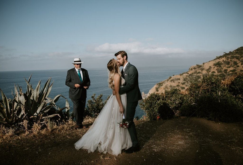 lovers cove catalina island california elopement wedding