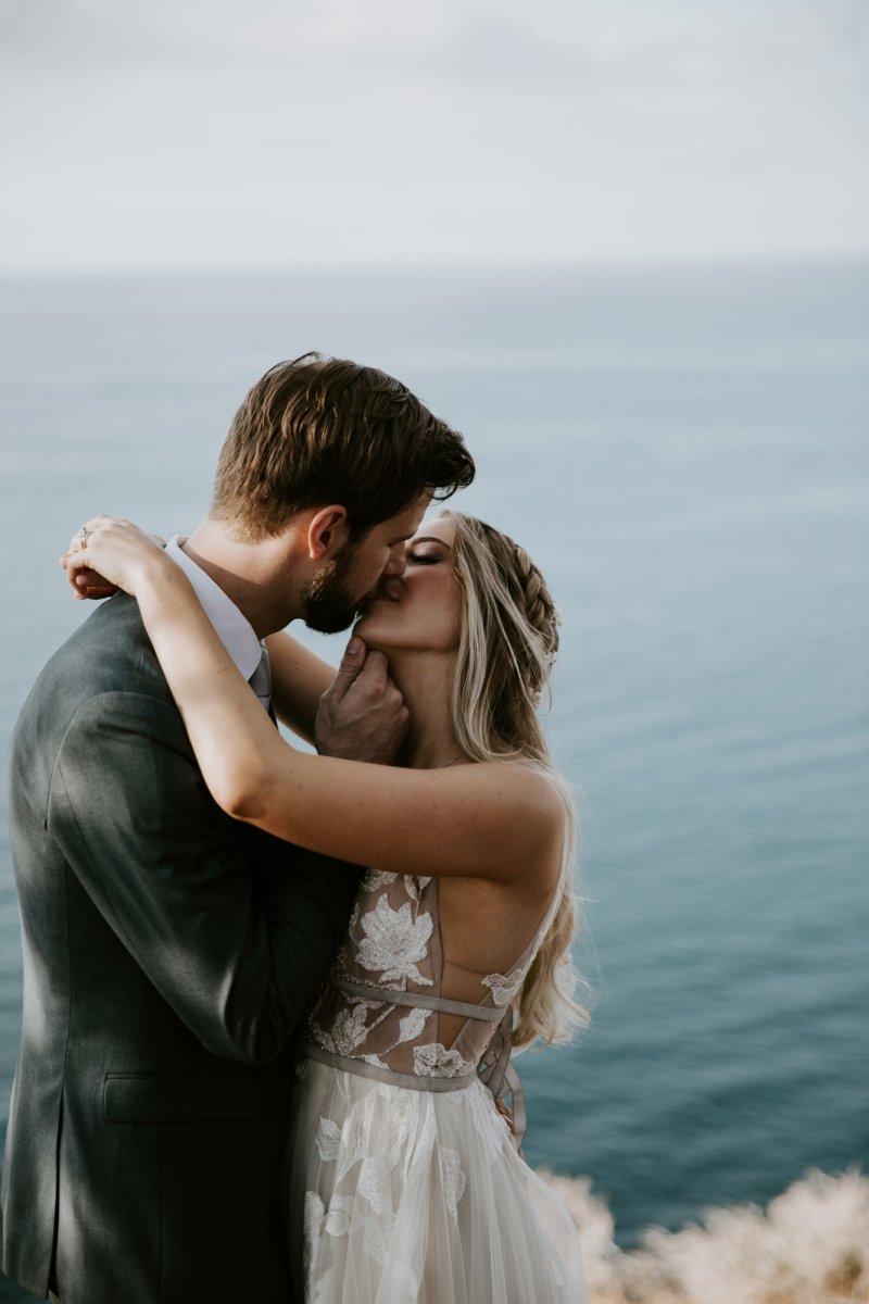lovers cove catalina island california elopement wedding
