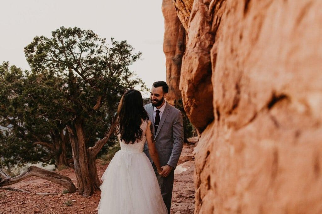 cathedral rock Sedona Arizona elopement desert wedding