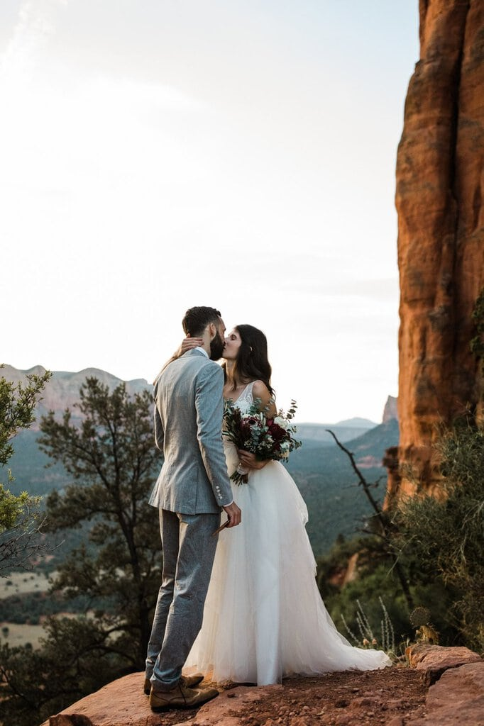 Sedona Sunrise Elopement at Cathedral Rock, Arizona