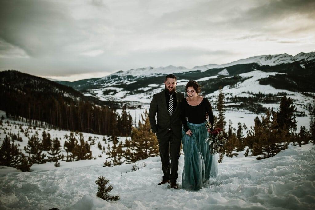 sapphire point breckenridge colorado elopement winter wedding