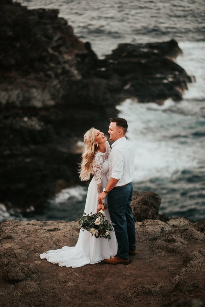 Oceanside Adventure Elopement in Maui, Hawaii