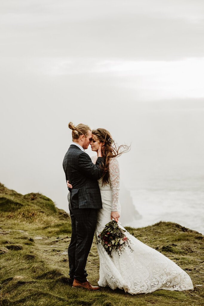 Misty Cliffs of Moher Wedding in County Clare, Ireland