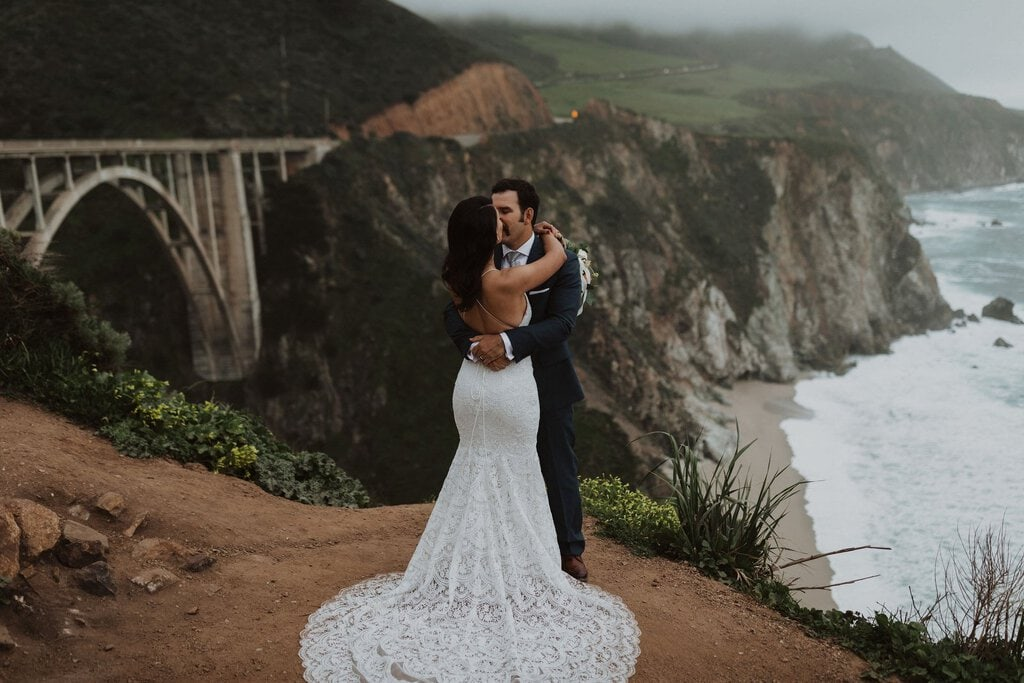 big sur california elopement beach wedding