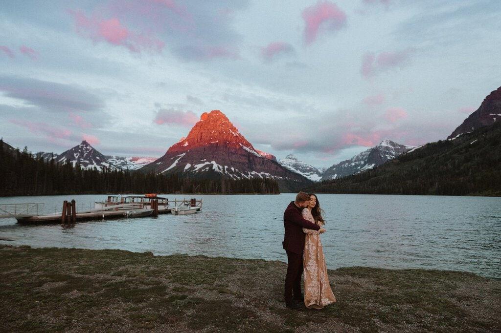 snow moon ranch montana glacier national park adventure wedding