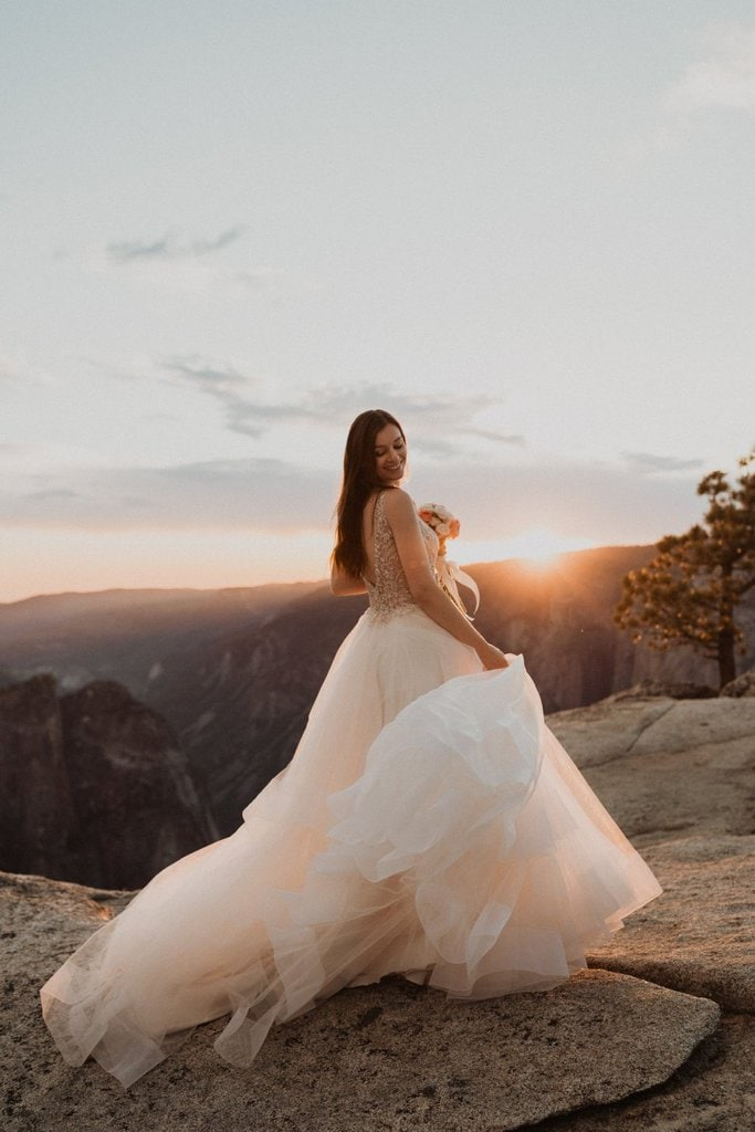Bridal portrait as the sun sets in California.