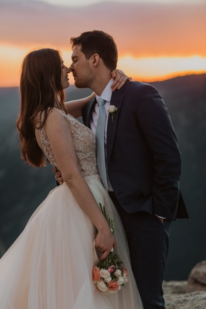 Intimate elopement photography in California.