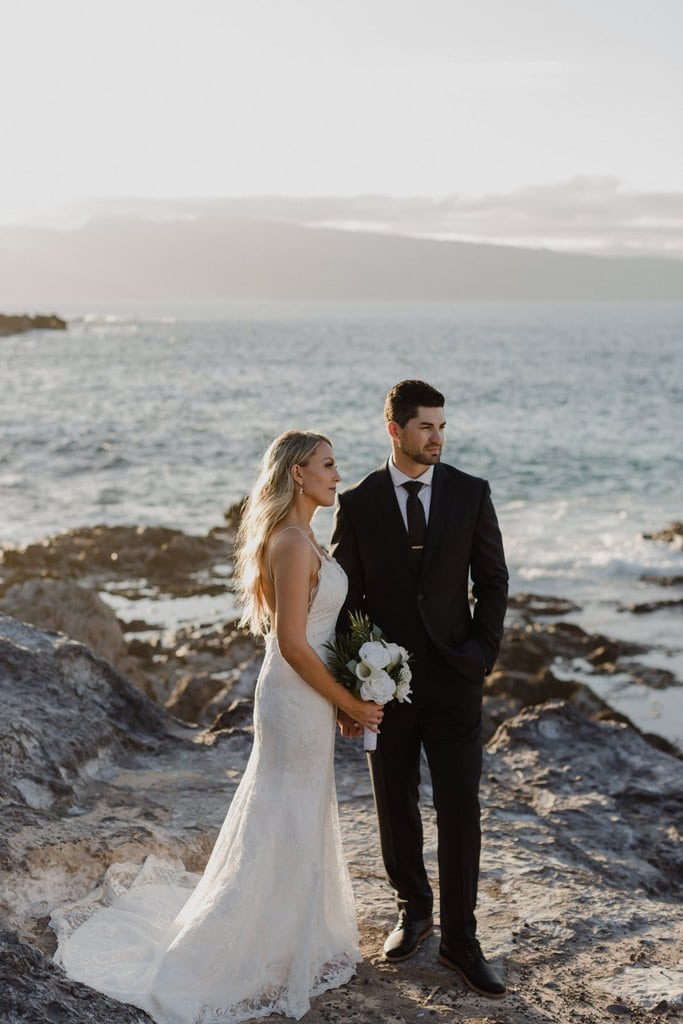 honolua bay kapalua ironwoods maui hawaii elopement beach wedding