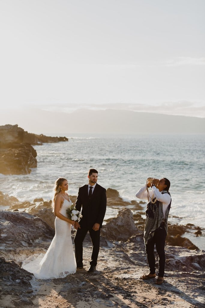 honolua bay kapalua ironwoods maui hawaii elopement wedding