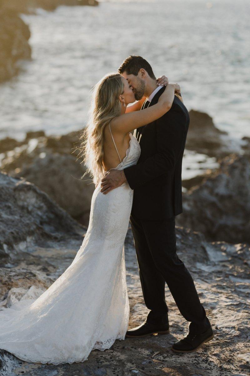 honolua bay kapalua ironwoods maui hawaii elopement wedding