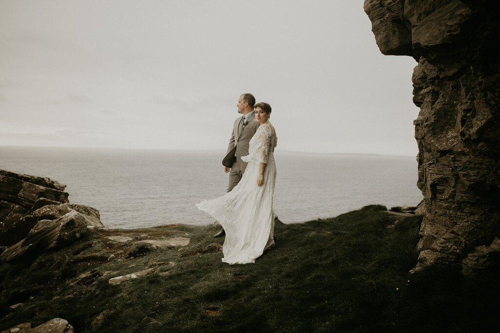 bride and groom portrait in Ireland.