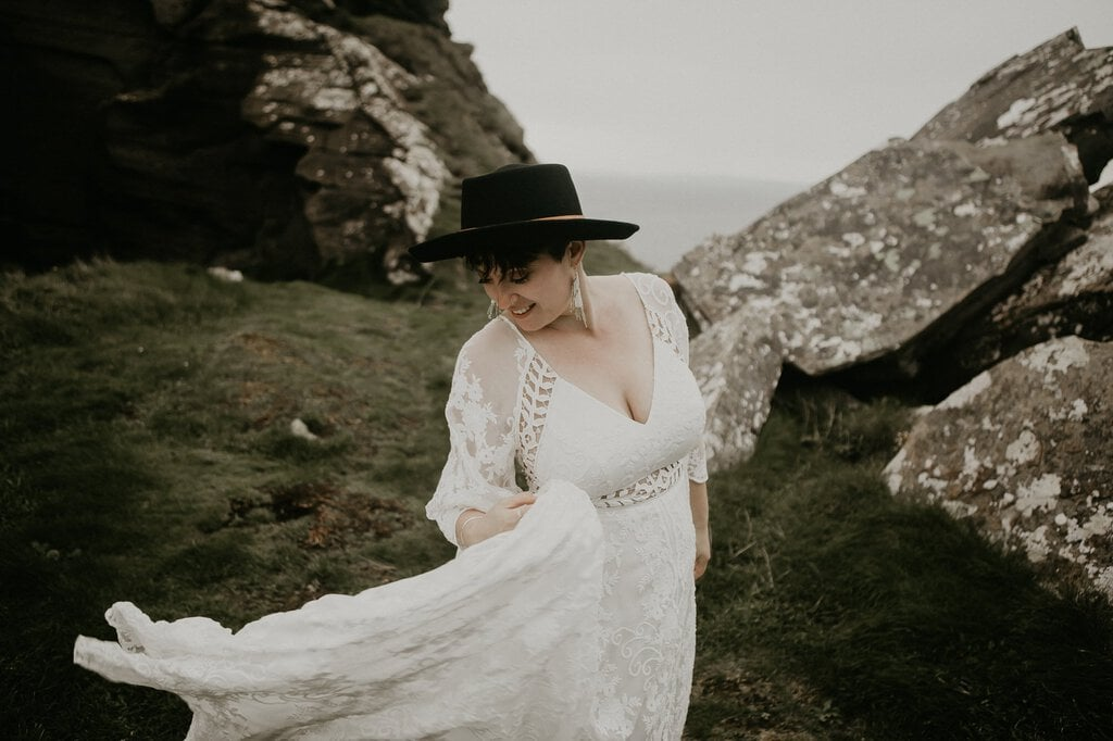 boho bride in Ireland.