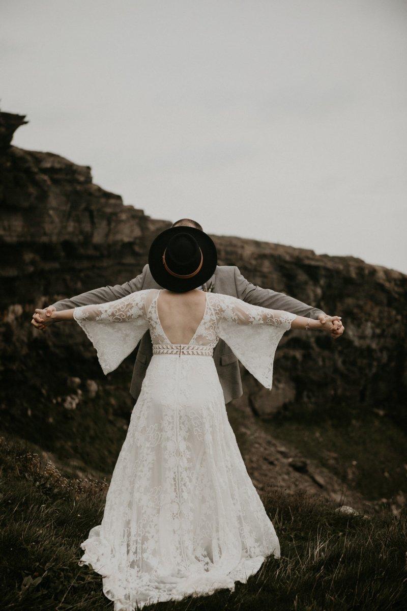 Boho intimate wedding in Ireland.