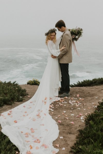 elopement photography at Garrapata State Park in California.