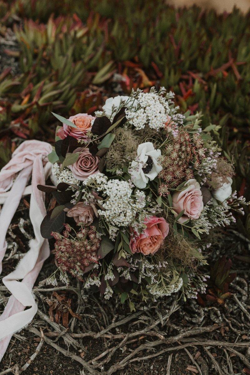boho bridal bouquet by Autumn Reid.