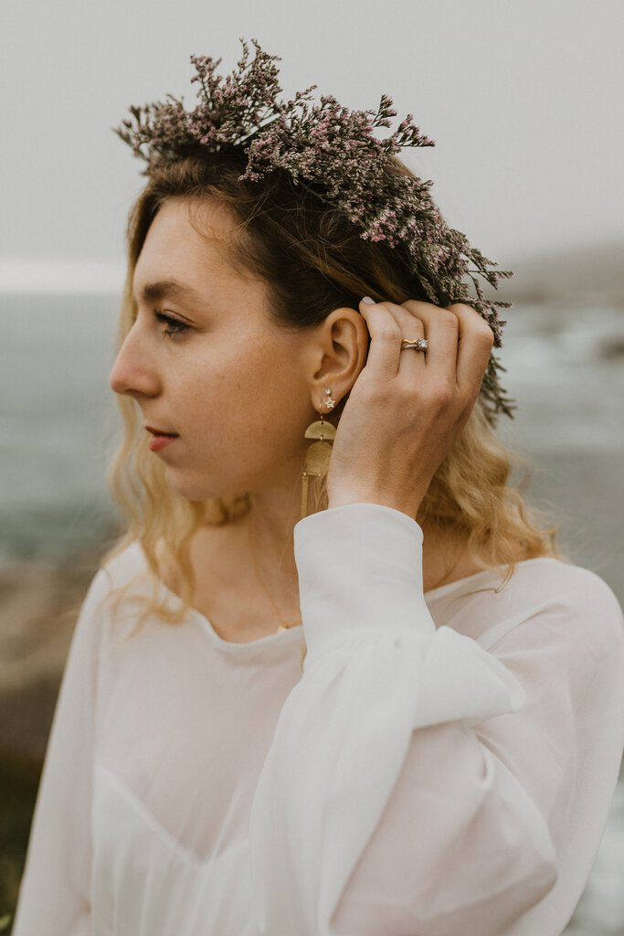 Anthropologie bridal jewelry.