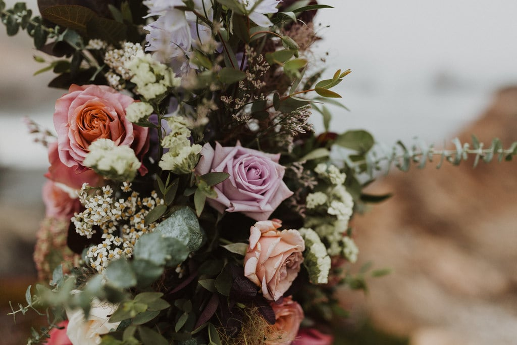 Floral arrangements for intimate wedding by Autumn Reid.