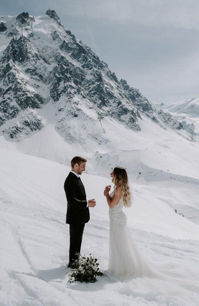 winter elopement wedding.