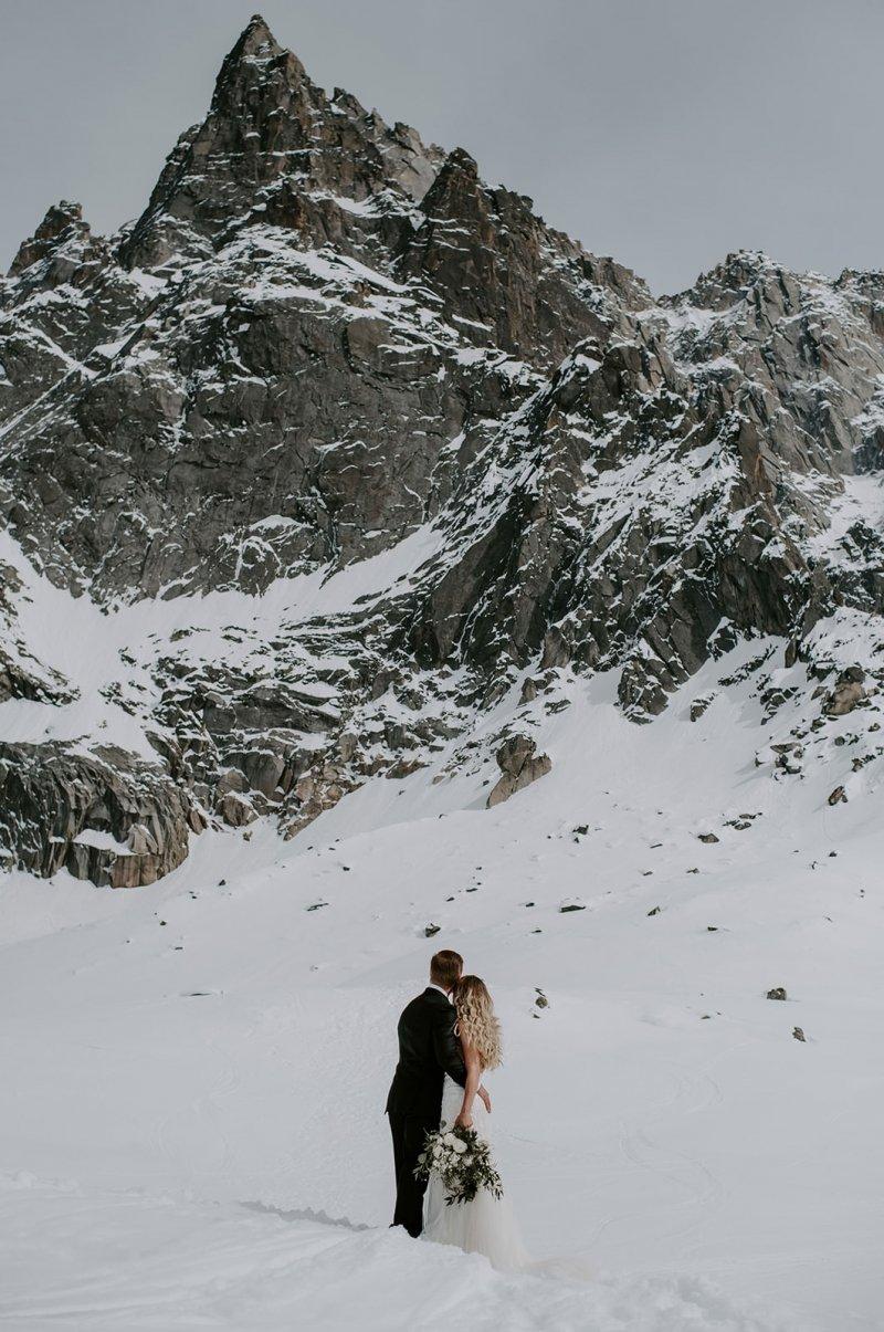 France winter elopement.