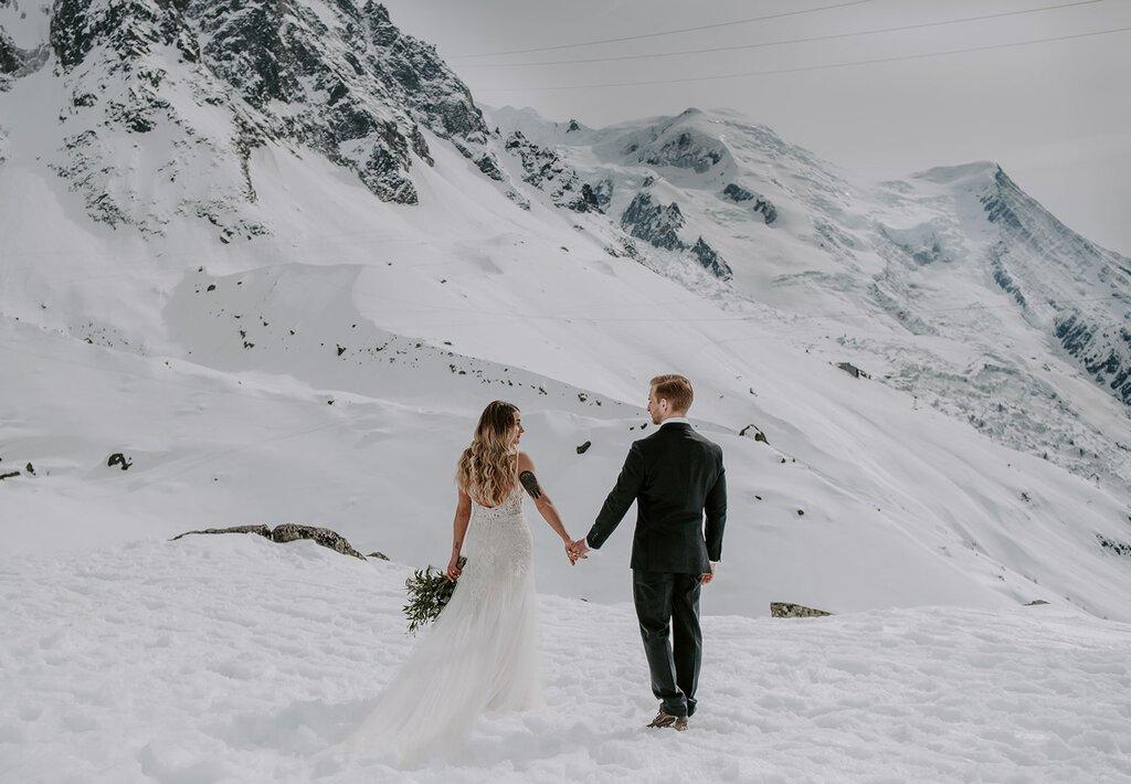 Wedding photography in Chamonix, France.