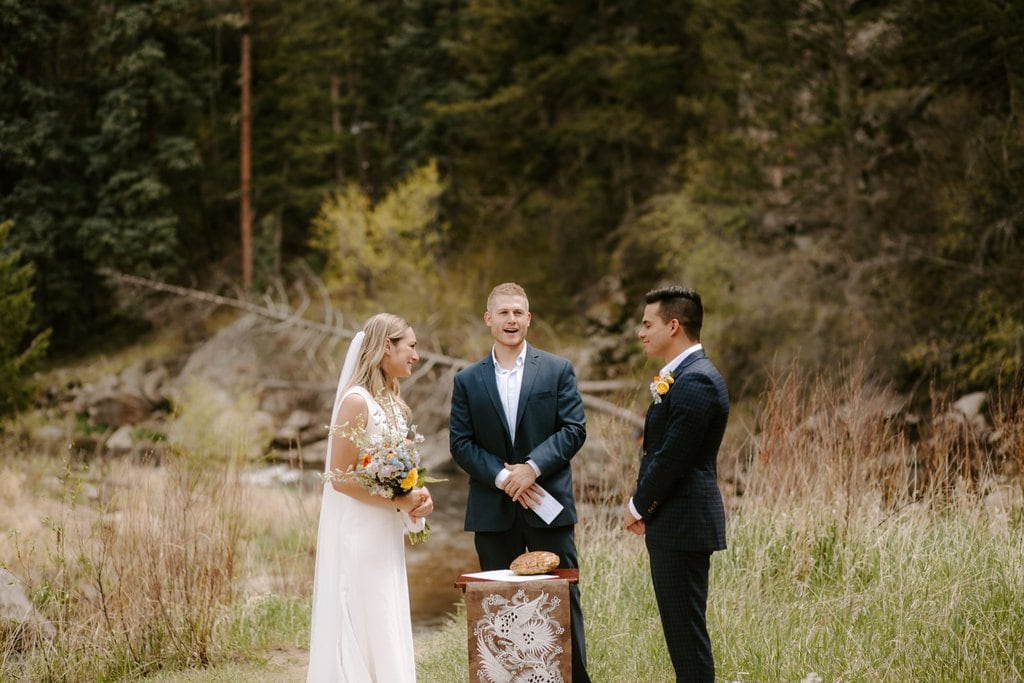 rocky mountain intimate wedding ceremony