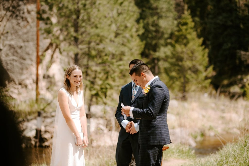 Colorado intimate wedding vows