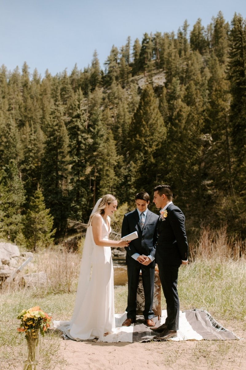 rocky mountain national park intimate wedding ceremony