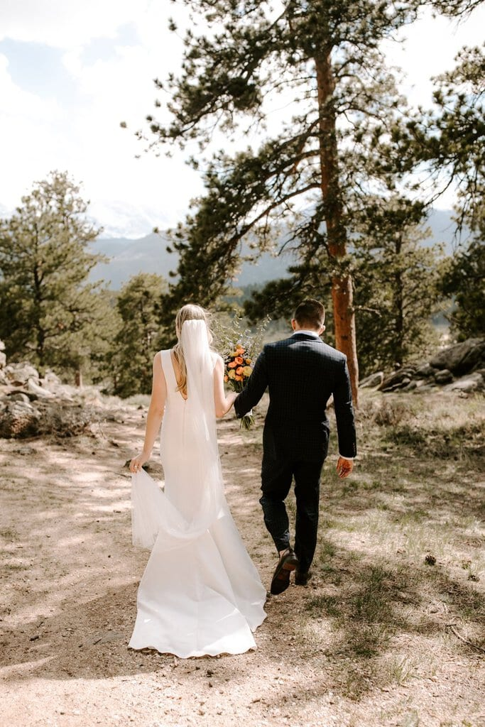 detail photography of bride and groom at Colorado's national park