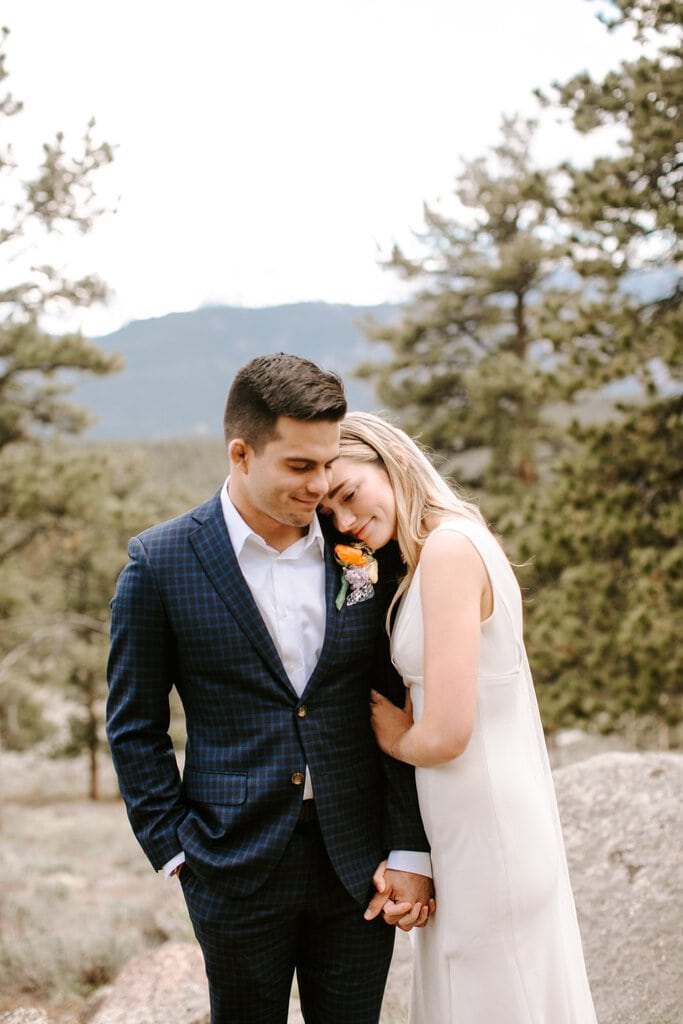 Intimate elopement in Colorado photography.