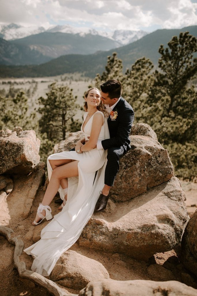 Intimate wedding photography at Colorado's sleepy hollow park, rocky mountain national park