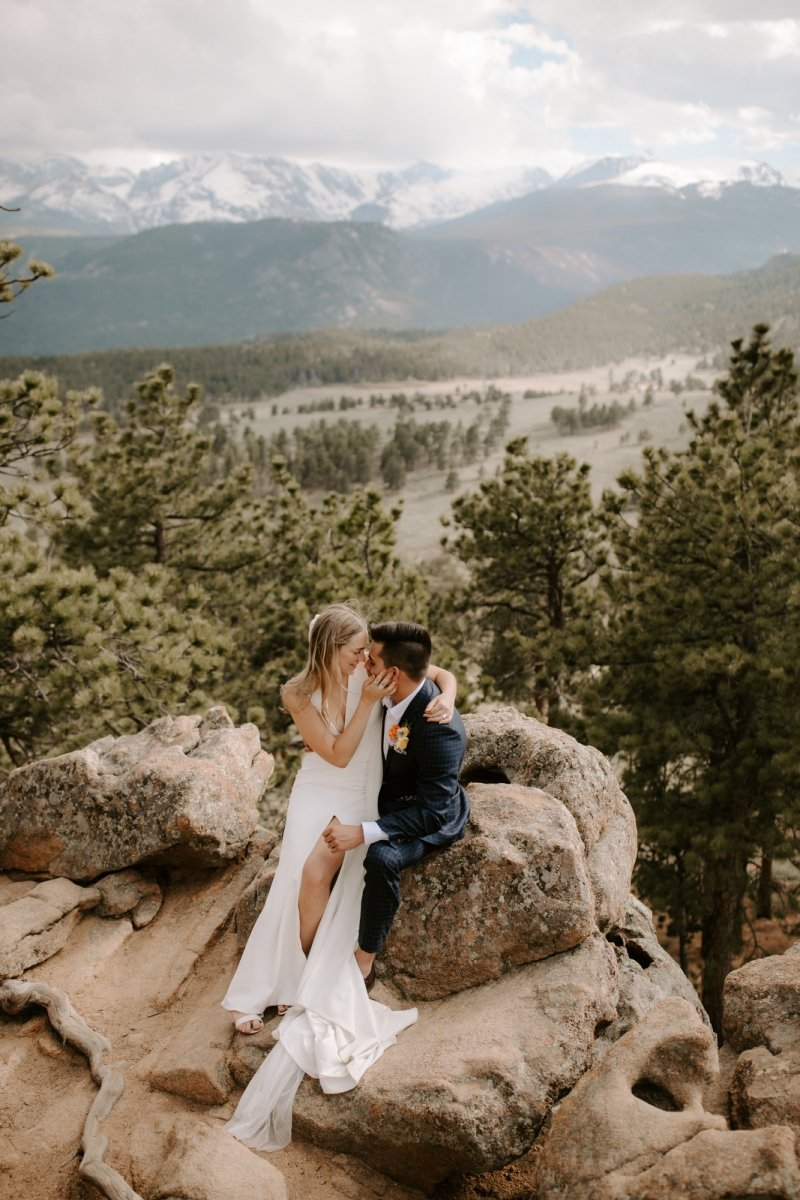 sleepy hollow park rocky mountain national park colorado intimate wedding