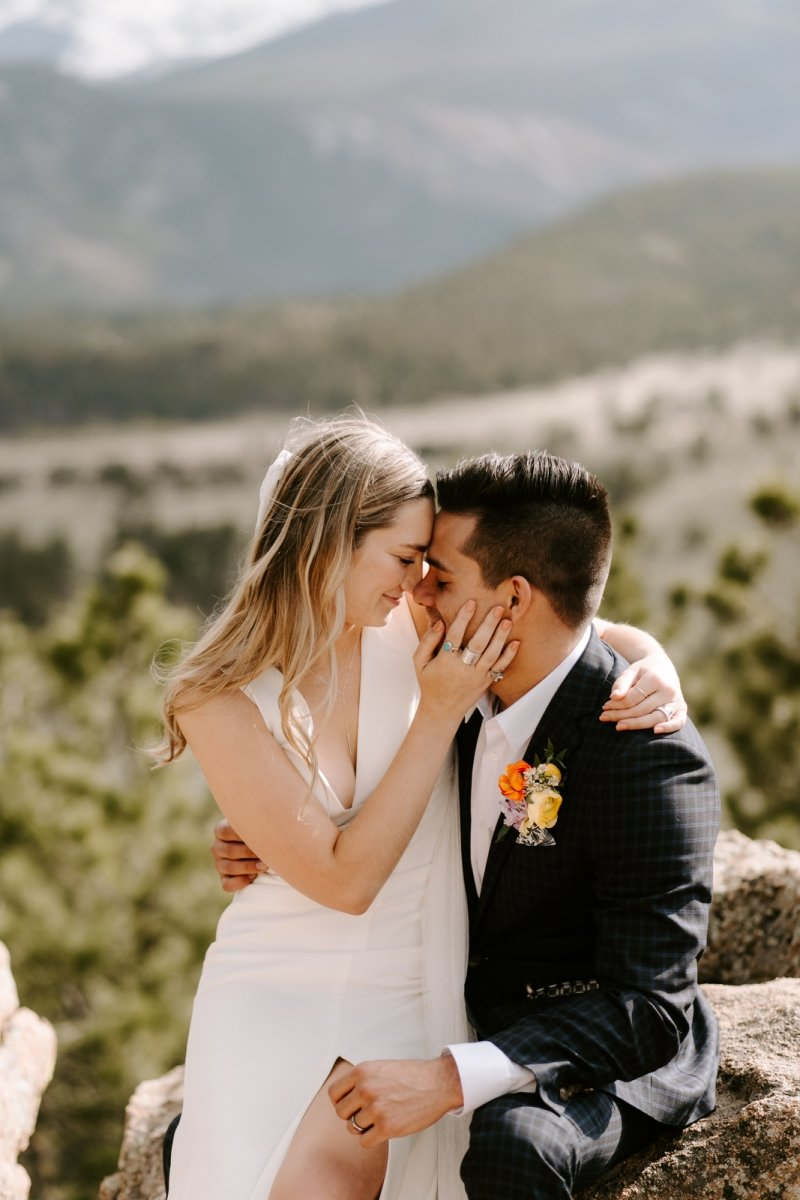 bridal portrait at the rocky mountain.