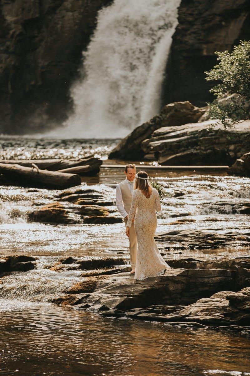 bride and groom adventurous elopement.