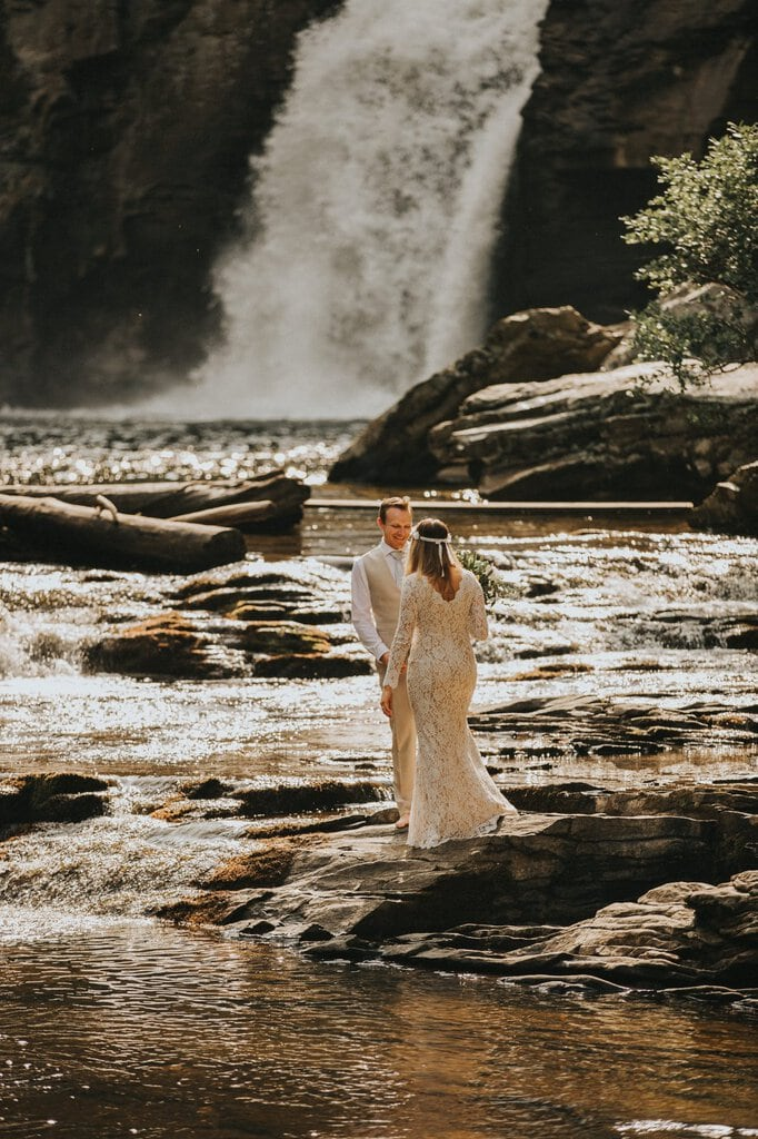 bride and groom adventurous elopement.
