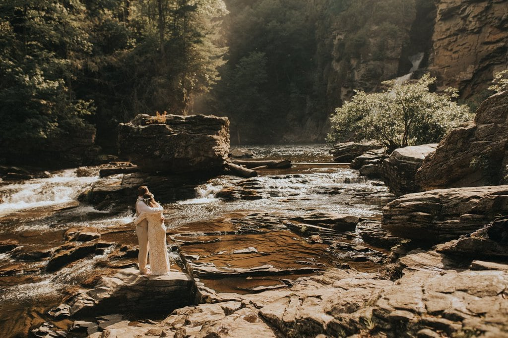linville gorge wilderness wedding.