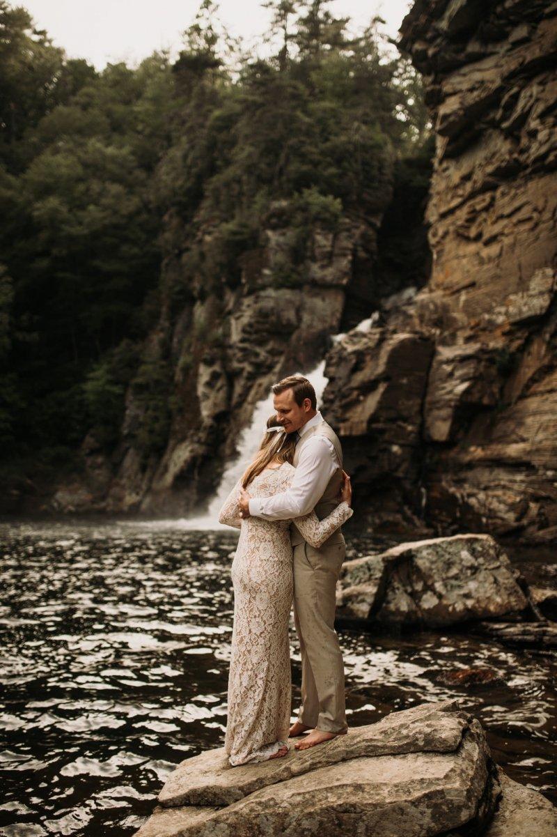 Boho elopement in North Carolina.