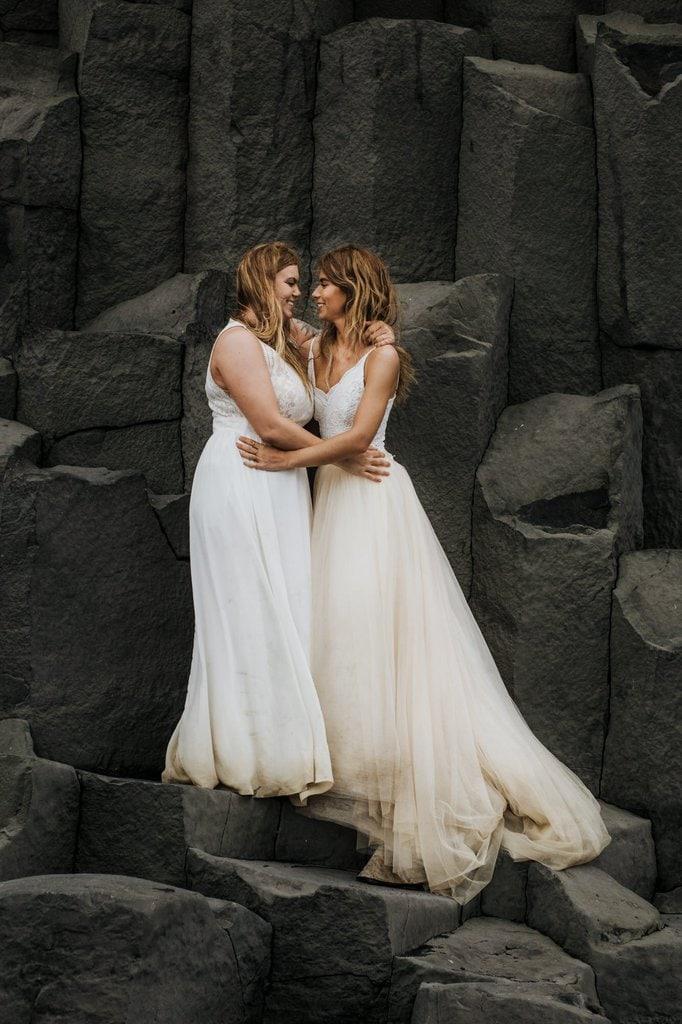 Iceland adventure elopement shoot.